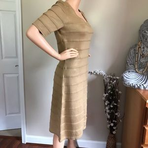 Calvin Klein Women's Tan Dress 100% Acrylic Sz XL